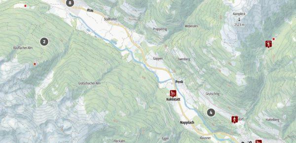 Karte_Obervellach-Reisseck